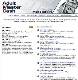 AdultMasterCash Adult Affiliate Program