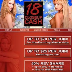 18CloseUp Cash Adult Affiliate Program