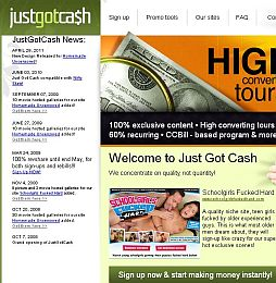 Just Got Cash Adult Affiliate Program