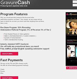 Gravure Cash Adult Affiliate Program