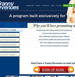 Tranny Revenues Adult Affiliate Program