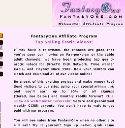 Fantasy One Cash Adult Affiliate Program