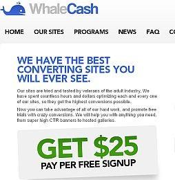 WhaleCash Adult Affiliate Program